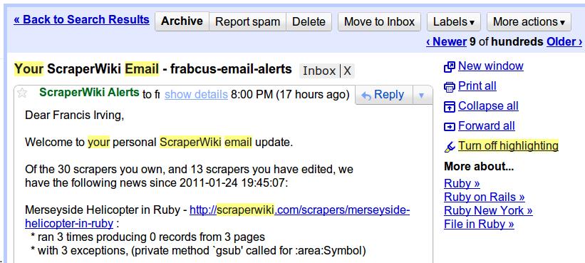 Be alert! Your scrapers need alerts | ScraperWiki