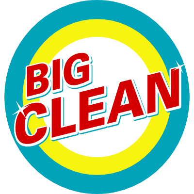 "A ""BIG CLEAN"" logo that looks like a logo for soap"