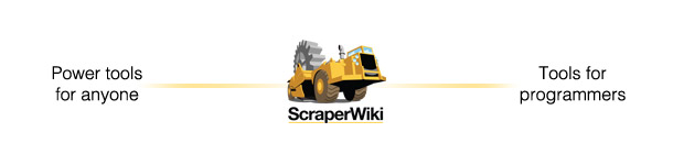 ScraperWiki exists on a scale between power users and programmers