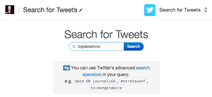 Search for tweets