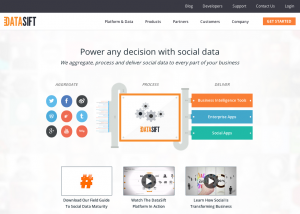 Datasift home page