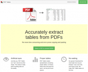 PDF Tables screenshot