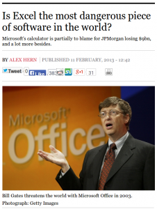 Is Excel the most dangerous piece of software in the world?
