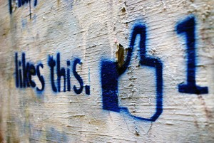 Facebook like on a wall